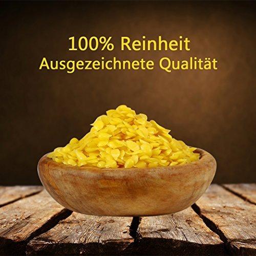 Happy Beene 100% Reine Bienenwachs Pastillen - 200 Gramm - Perfekt geeignet für Kosmetik und die Kerzen Herstellung - 3